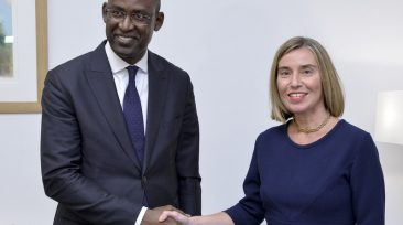 Federica MOGHERINI, High Representative of the Union for Foreign Affairs and Security Policy and Vice-President of the EC meets with Abdoulaye DIOP, Minister of Foreign Affairs of Mali