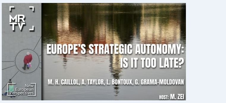 29 April at 7.30 pm – NEP conference – Europe's strategic autonomy: Is it too late ?