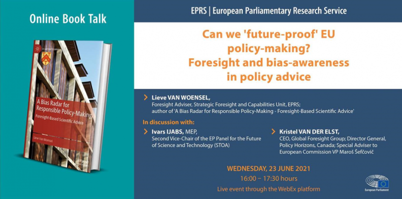 EPRS online Book Talk: Can we 'future-proof' EU policy-making?