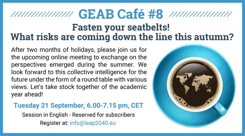 GEAB Cafe on 21 September
