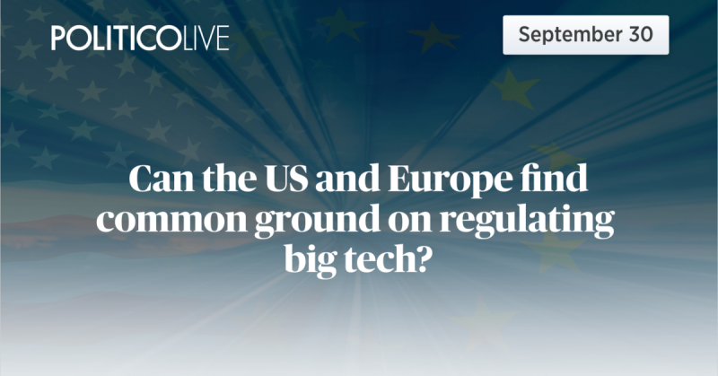 Can the US and Europe find common ground on regulating big tech?